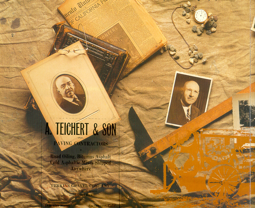 an old photo collage of Teichert artifacts