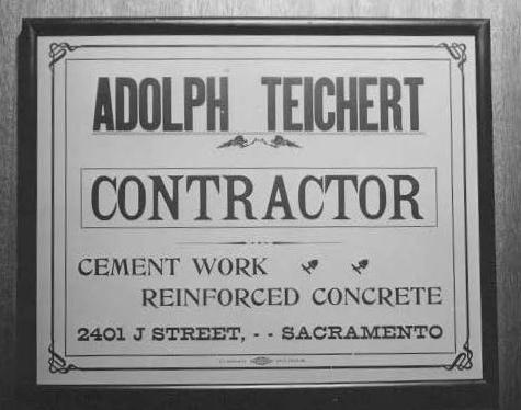 Adolph Teichert's door sign