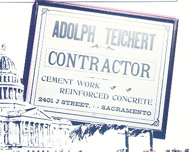 image of old billboard ad for Adolph Teichert