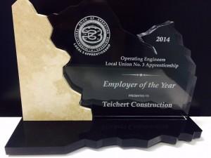 Operating Engineers Local 3 Apprenticeship Award | Teichert